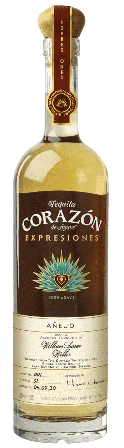 Corazon Anejo Tequila aged in WLW barrels bottle image